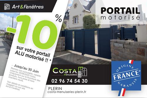 - 10% sur votre portail motorisé alu Art& Fenêtres