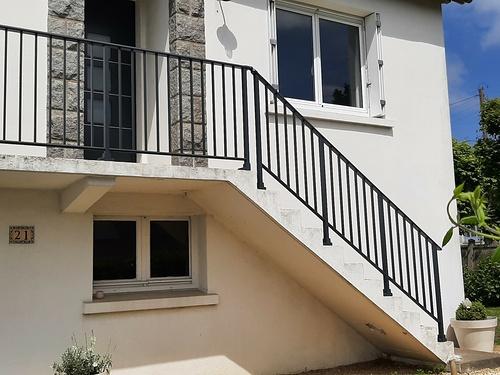 Changement de garde-corps-terrasse et escalier - Plérin