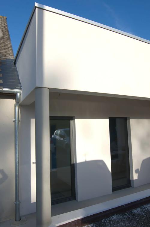 Extension des bureaux de l''entreprise Le Guern Maçonnerie - Plédran (22)