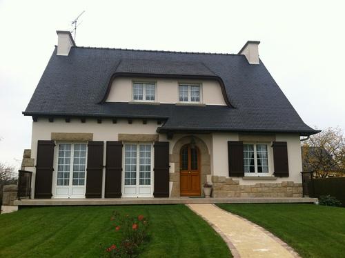 Fenêtres PVC Blanc maison néo bretonne - Créhen