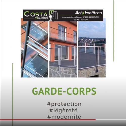Garde-corps moderne aluminium vitré - protection - sécurité