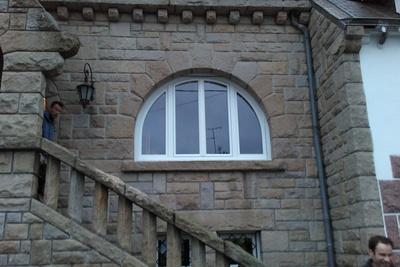 Menuiserie fenêtre PVC blanc cintrée - Saint Brieuc