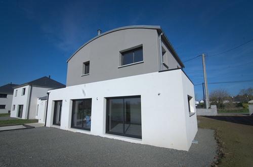 Menuiseries construction maison contemporaine - Pordic (22)
