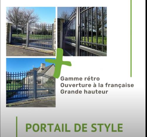 Portail style rétro ouverture à la française