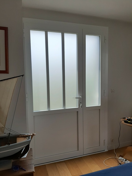 Porte d''entré alu type atelier - Lamballe
