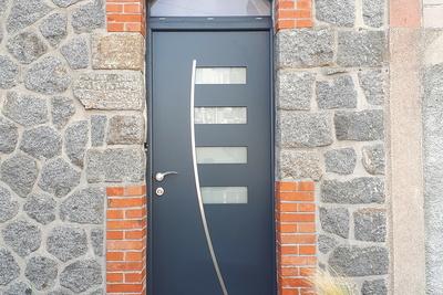 Porte d''entrée aluminium
