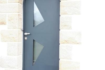 Porte d''entrée cintrée en aluminium - Coëtmieux (22)