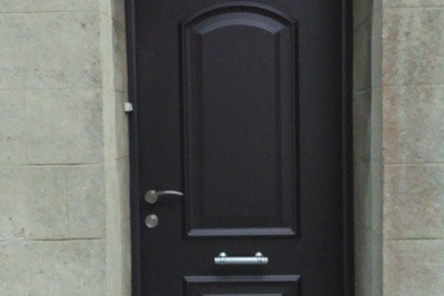 Porte d'' entrée pleine en alu avec impost - St-Brieuc