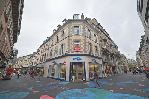 Rénovation fenêtres bois immeuble au centre ville de Saint-Brieuc