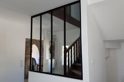 Verrière en aluminium: décoration intérieure - Plélo (22)