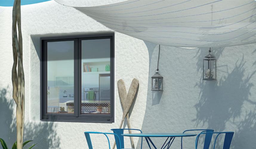 Portes fenêtres et fenêtres bois : alu bal1