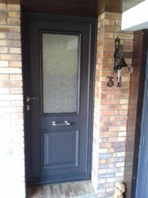 Menuiserie extérieure : porte d''entrée en aluminium - Plérin ( 22 - Bretagne) 0