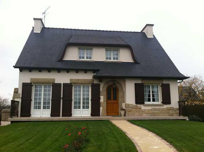 Fenêtres PVC Blanc maison néo bretonne - Créhen 0