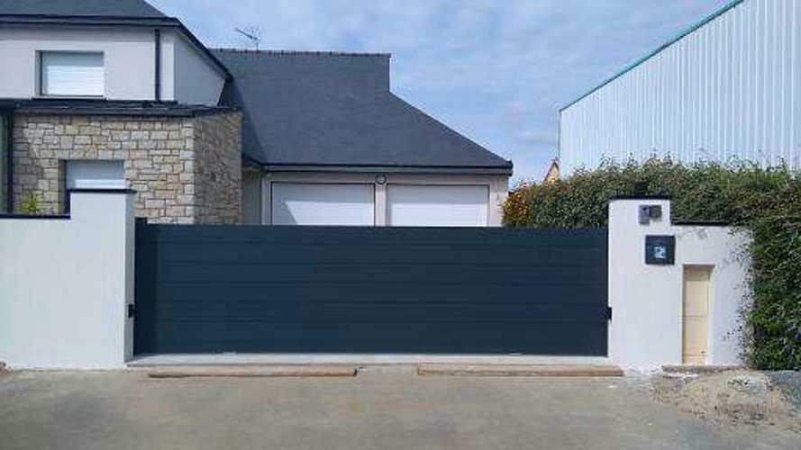 Portail de clôture en Aluminium Coulissant - Plérin portaildecloturealuminiumcoulissantplerin