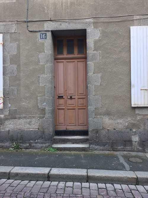 Rénovation porte d''entrée moderne à Saint-Brieuc (Côtes d''Armor) par Costa Menuiseries