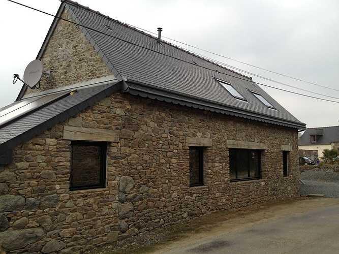 Porte d''entrée, porte de garage et fenêtres alu - Plouha leparc