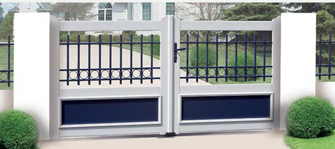 Portail PVC et grille alu port2
