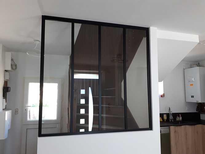 Verrière en aluminium: décoration intérieure - Plélo (22) 201807091435001