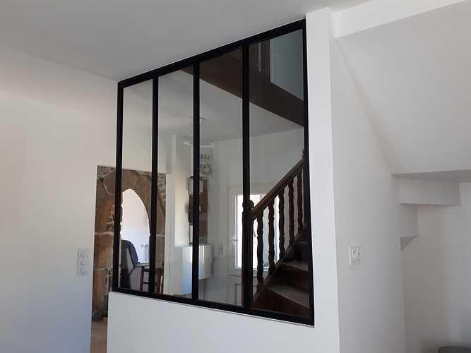 Verrière en aluminium: décoration intérieure - Plélo (22) 0