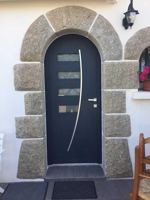Porte d''entrée alu - Saint Quay Portrieux (22) 1803
