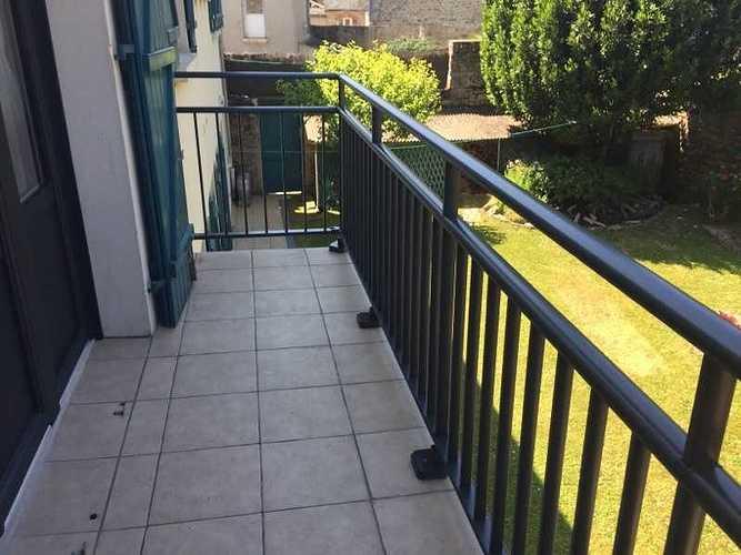 Garde-corps alu anthracite pour escalier et balcon 1810