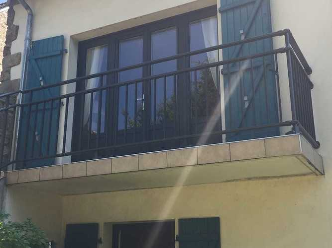 Garde-corps alu anthracite pour escalier et balcon 1812