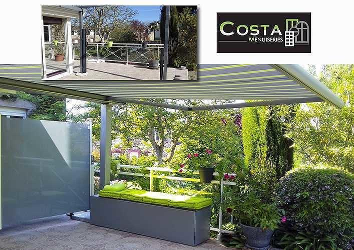 Aménagement terrasse avec pergola et brise-vent vitré - Pléneuf Val André -22 princ75px0rapprincipalgrande
