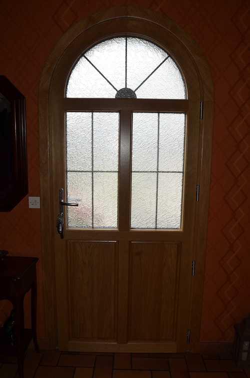 Baie vitrée mixte et porte d''entrée alu / bois - Maison à Plélo (22) dsc8994
