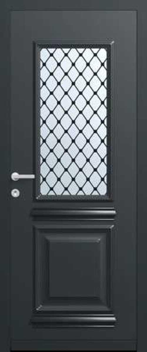 La nouvelle gamme de portes Monalu porte-entree-saline-monalu-grille-pointe-de-diamant