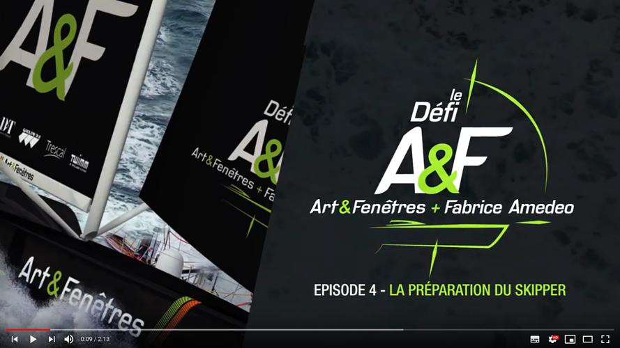 Art et Fenêtres aux côtes de Fabrice Amedéo pour le route du Rhum 2018 0