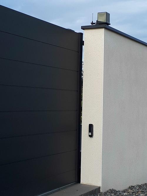 Pose d''un portail aluminium coulissant - Langueux (22) 20181031120456