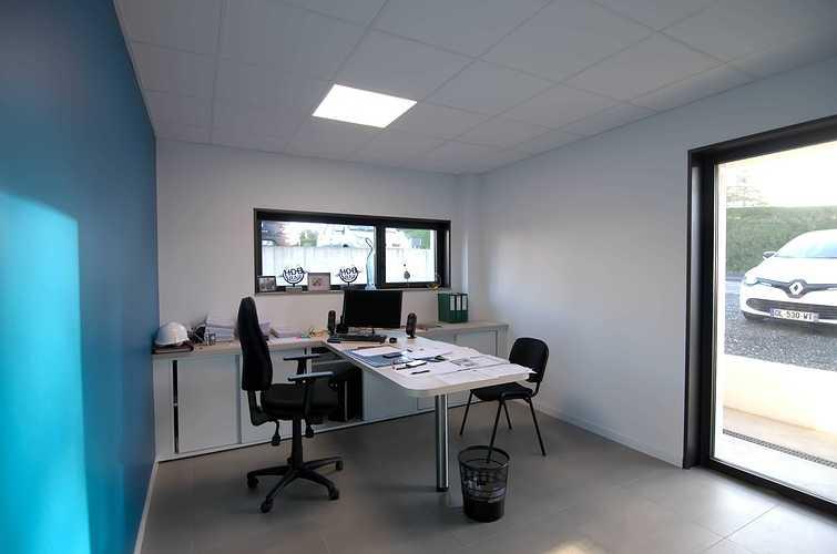 Extension des bureaux de l''entreprise Le Guern Maçonnerie - Plédran (22) dsc0562