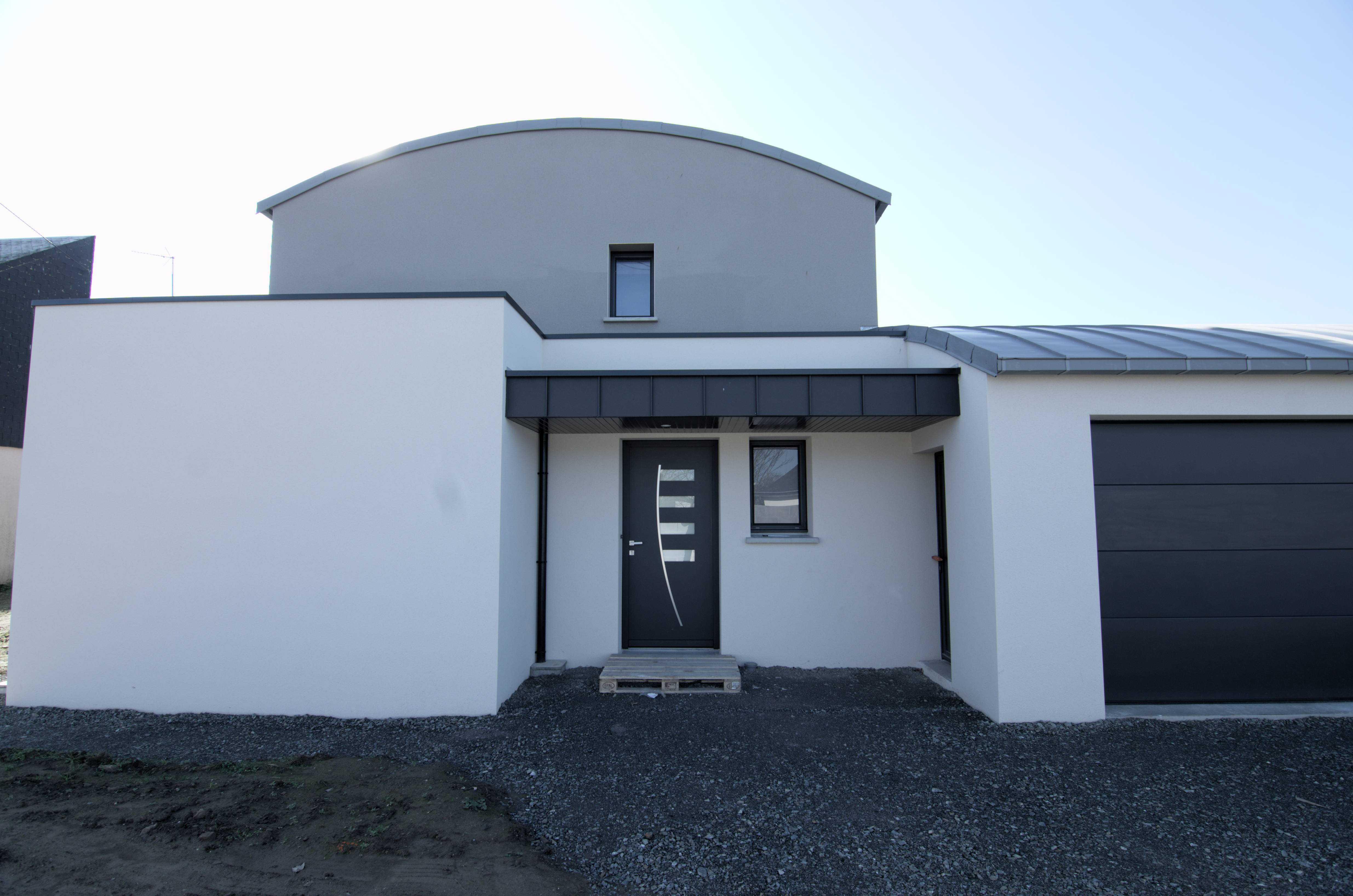 Porche D Entrée Maison Contemporaine menuiseries construction maison contemporaine - pordic (22)