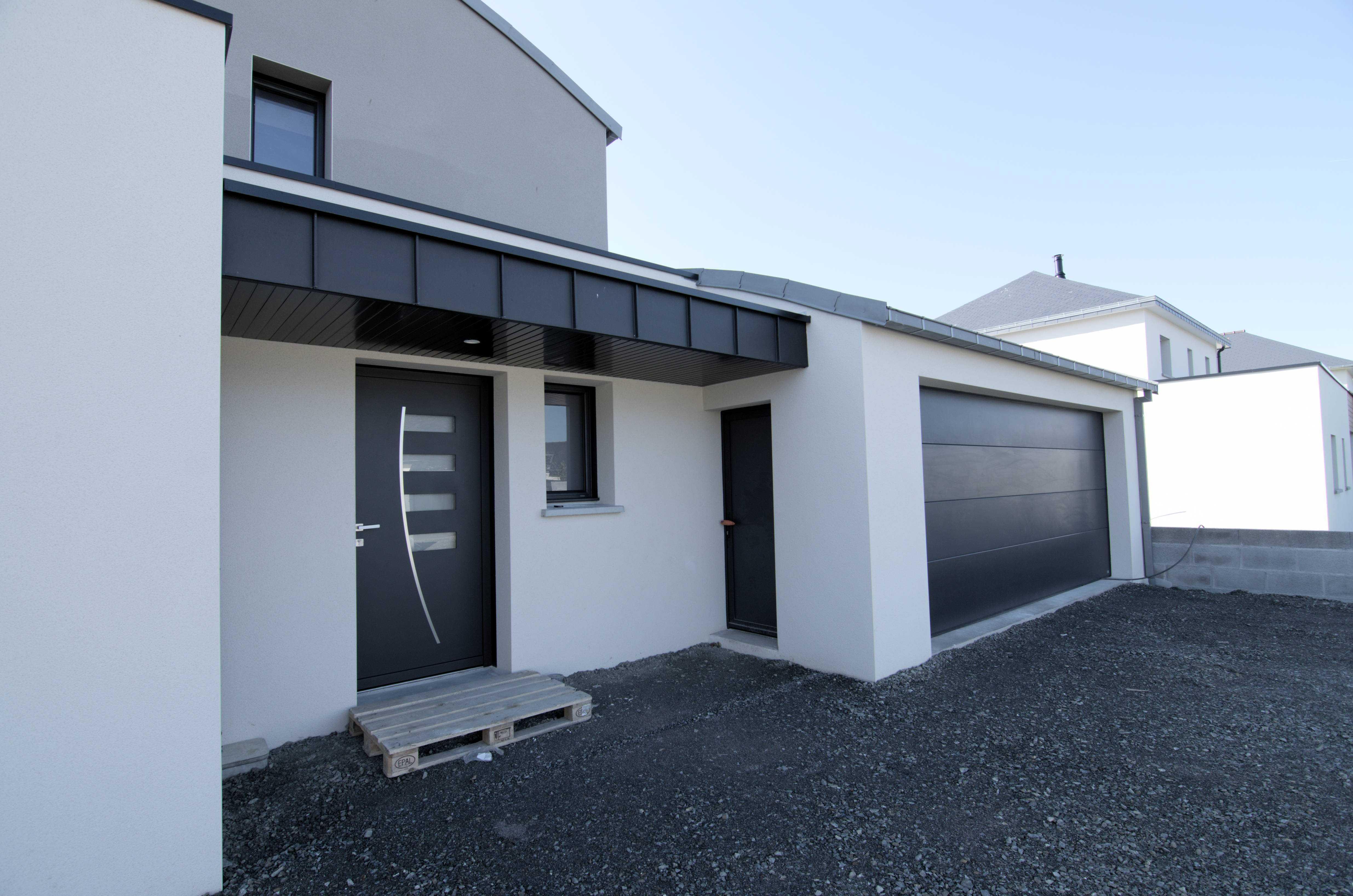 Couleur Exterieur Maison Contemporaine menuiseries construction maison contemporaine - pordic (22)