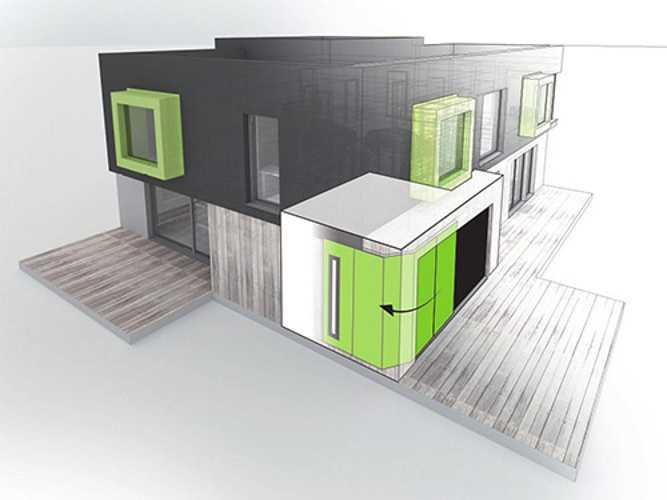 Les portes de garage sectionnelles latérales Aludoor: la solution pour du neuf ou de la rénovation 0