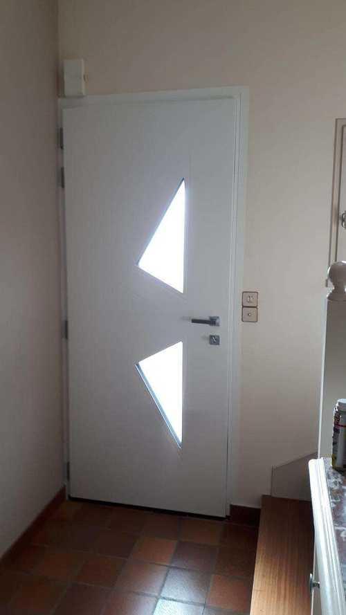 Porte d''entrée cintrée en aluminium - Coëtmieux (22) porte-coetmieux-6