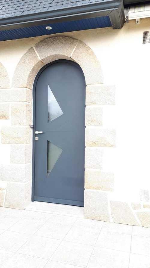 Porte d''entrée cintrée en aluminium - Coëtmieux (22) 0
