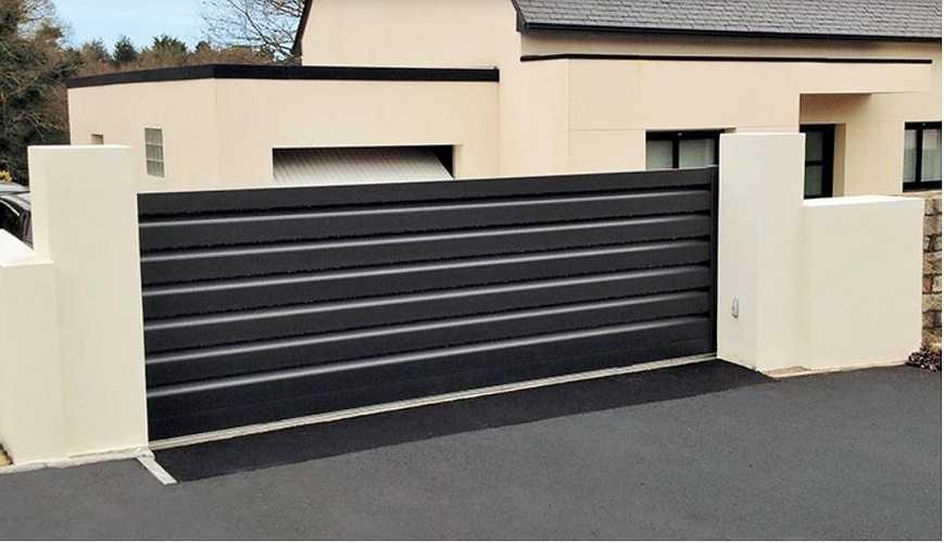 Portail alu coulissant Art et Fenêtre - design contemporain 0