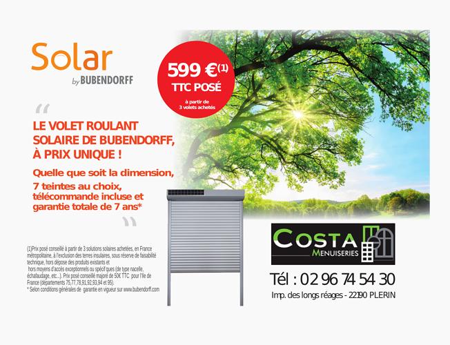 Promotion Solar by Bubendorff : volet roulant solaire 0