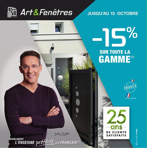 - 15 % sur toute la gamme Art & Fenêtres (1) 0