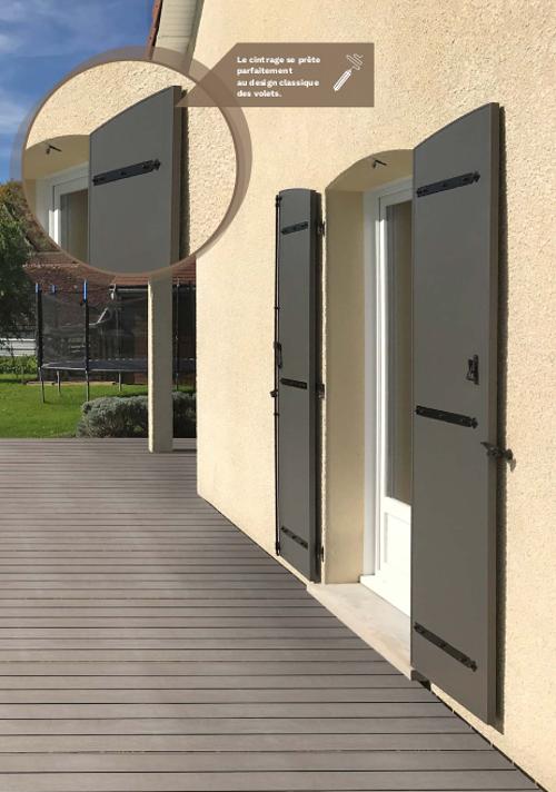 Les volets en aluminium modèle Eléna - Art et Fenêtres 0