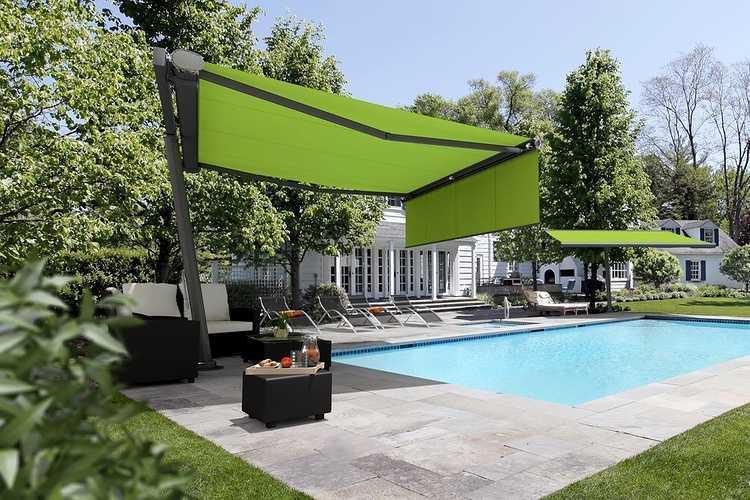 Toile d''ombrage sur pieds - bord de piscine - store Markilux 0