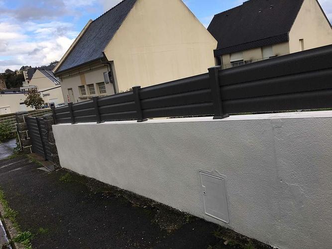 Clôture, portillon et portail aluminium - Binic (22) img1468