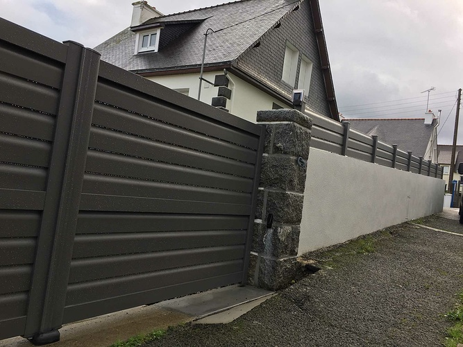 Clôture, portillon et portail aluminium - Binic (22) img1474