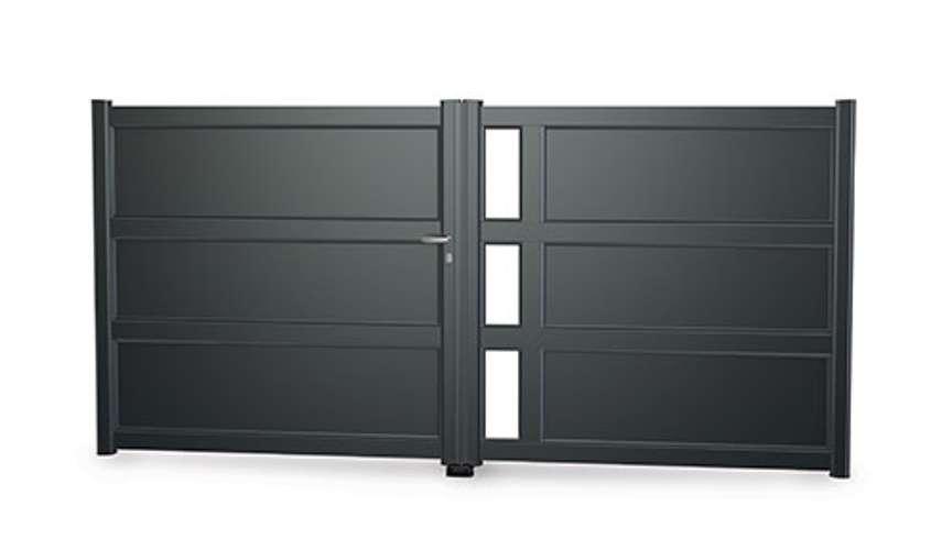 Portails alu gamme Art & Fenêtres - menuiseries alu astana