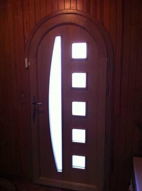 Porte d''entrée cintrée menuiserie alu et bois - Plérin - 22 - Côtes d''Armor portedentreecintreealuminiumboisplerin