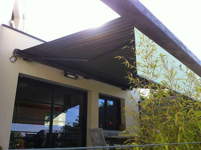 Store extérieur pour terrasse - Morieux - Lamballe - Menuiserie storemarkilux6000lambrequinmorieux1