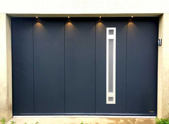 Porte de garage sectionnelle latérale- Aludoor 0