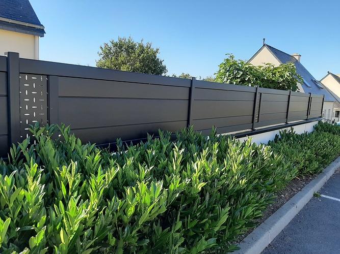 Installationportail coulissant motorisé, portillon & clôtures en aluminium- Plérin - 22 20200730101723