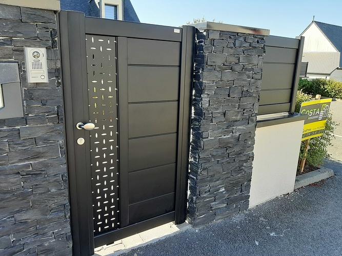 Installationportail coulissant motorisé, portillon & clôtures en aluminium- Plérin - 22 20200730101803